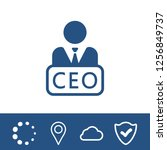 chief executive officer icon | Shutterstock .eps vector #1256849737