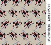 abstract geometry... | Shutterstock . vector #1256849797
