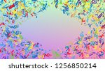 disco background. many random... | Shutterstock .eps vector #1256850214