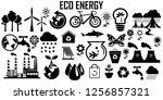 ecology icon vector | Shutterstock .eps vector #1256857321
