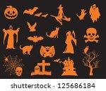 halloween | Shutterstock . vector #125686184