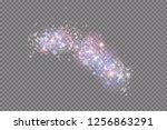glow light effect. vector... | Shutterstock .eps vector #1256863291