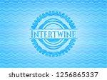 intertwine water concept badge... | Shutterstock .eps vector #1256865337