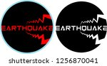 colored and isolated earthquake ... | Shutterstock .eps vector #1256870041