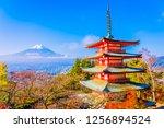 beautiful landscape of mountain ... | Shutterstock . vector #1256894524
