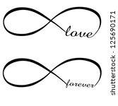 infinity love  forever symbol | Shutterstock .eps vector #125690171