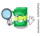 detective stack of dollars... | Shutterstock .eps vector #1256918761