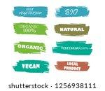 organic  100  bio  eco  natural ...   Shutterstock .eps vector #1256938111