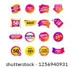 sale banner templates design.... | Shutterstock .eps vector #1256940931