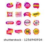 sale banner templates design.... | Shutterstock .eps vector #1256940934