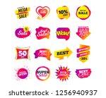 sale banner templates design.... | Shutterstock .eps vector #1256940937