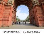 barcelona  spain   april 6 ... | Shutterstock . vector #1256965567