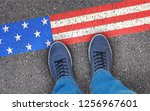 enter the usa | Shutterstock . vector #1256967601