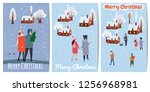 merry christmas and happy new... | Shutterstock .eps vector #1256968981