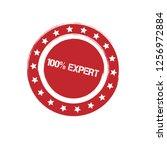 100  expert emblem  label ... | Shutterstock .eps vector #1256972884
