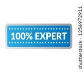 100  expert emblem  label ... | Shutterstock .eps vector #1256972911