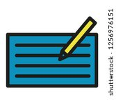 compose icon with pen and paper ... | Shutterstock .eps vector #1256976151