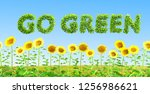 go green ecology concept  | Shutterstock . vector #1256986621