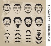 human faces with various...