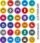white solid icon set  house... | Shutterstock .eps vector #1257000184