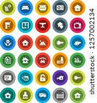 white solid icon set  house... | Shutterstock .eps vector #1257002134