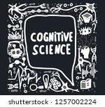 cognitive science handwritten... | Shutterstock .eps vector #1257002224