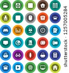 white solid icon set  plates... | Shutterstock .eps vector #1257005284
