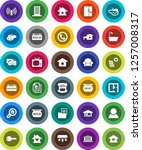 white solid icon set  house... | Shutterstock .eps vector #1257008317