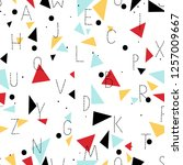 seamless pattern   hand drawn... | Shutterstock .eps vector #1257009667