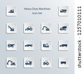 icon set  heavy duty machines  | Shutterstock .eps vector #1257010111