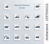 icon set  heavy duty machines    Shutterstock .eps vector #1257010111