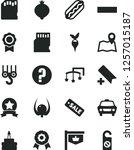 solid black vector icon set  ... | Shutterstock .eps vector #1257015187