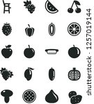 solid black vector icon set   a ... | Shutterstock .eps vector #1257019144