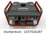 electric generator  motor ... | Shutterstock . vector #1257026287