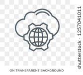 cyberspace icon. trendy flat... | Shutterstock .eps vector #1257041011