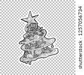 pine or fir tree vector linear...   Shutterstock .eps vector #1257056734