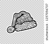 santas hat sticker vector...   Shutterstock .eps vector #1257056737