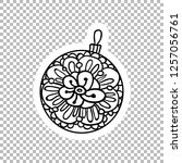 ball decor sticker vector...   Shutterstock .eps vector #1257056761