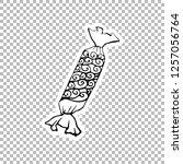 sweets sticker vector linear...   Shutterstock .eps vector #1257056764