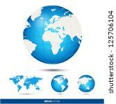 blue and gray globe | Shutterstock .eps vector #125706104