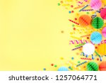 birthday party background on...   Shutterstock . vector #1257064771