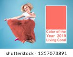 living coral   color of the... | Shutterstock . vector #1257073891