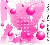 seamless pattern. bright purple ... | Shutterstock .eps vector #1257075277