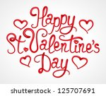 valentine s day lettering  ... | Shutterstock .eps vector #125707691