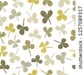 hand drawn clover seamless...   Shutterstock . vector #1257089317