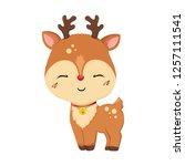 christmas deer. little deer....   Shutterstock .eps vector #1257111541