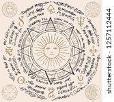 illustration of the sun in an...   Shutterstock .eps vector #1257112444