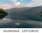 emerald lake of yoho national... | Shutterstock . vector #1257128131
