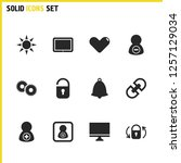 ui icons set with computer ...