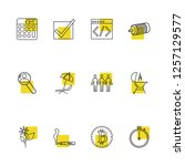 universal icons set with math ...